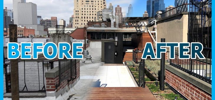 R/Evolution of 424 W 47th St Part 6: Green Roof North View